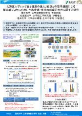 北海道大学C O I「食と健康の達人」拠点との若手連携による膜分離プロセスを用いた水資源・食材の循環的利用に関する研究