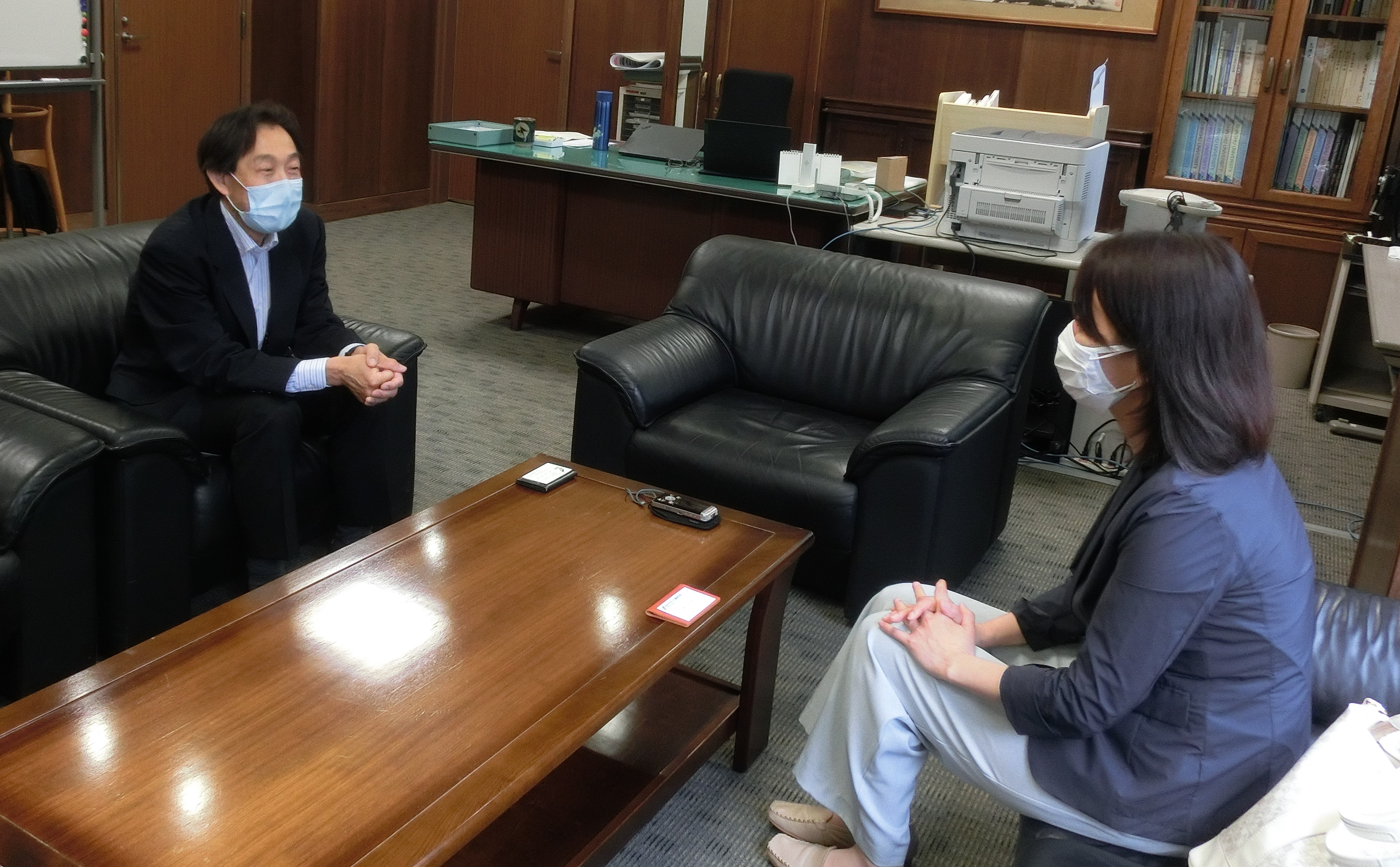 森川英明 繊維学部長のインタビュー掲載