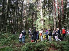 演習林内の散策