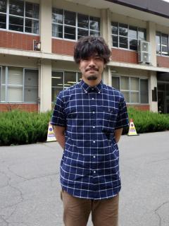 植物資源科学コース4年 沖田遥久さん