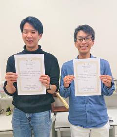 受賞された田島 尚さん(左)と高澤隆仁さん(右)