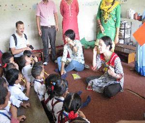 ネパール:学生による歯磨き健康学習会.JPG