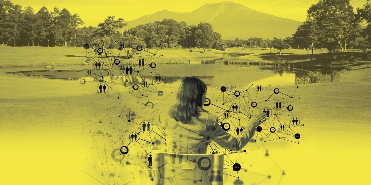混沌とした現代社会から、人間中心の調和のとれた未来社会へ