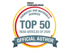 内山教授、木村教授を含む研究チームの論文がNature Communications 2020 Top50 Chem.& Matr. Sci.論文に選ばれました