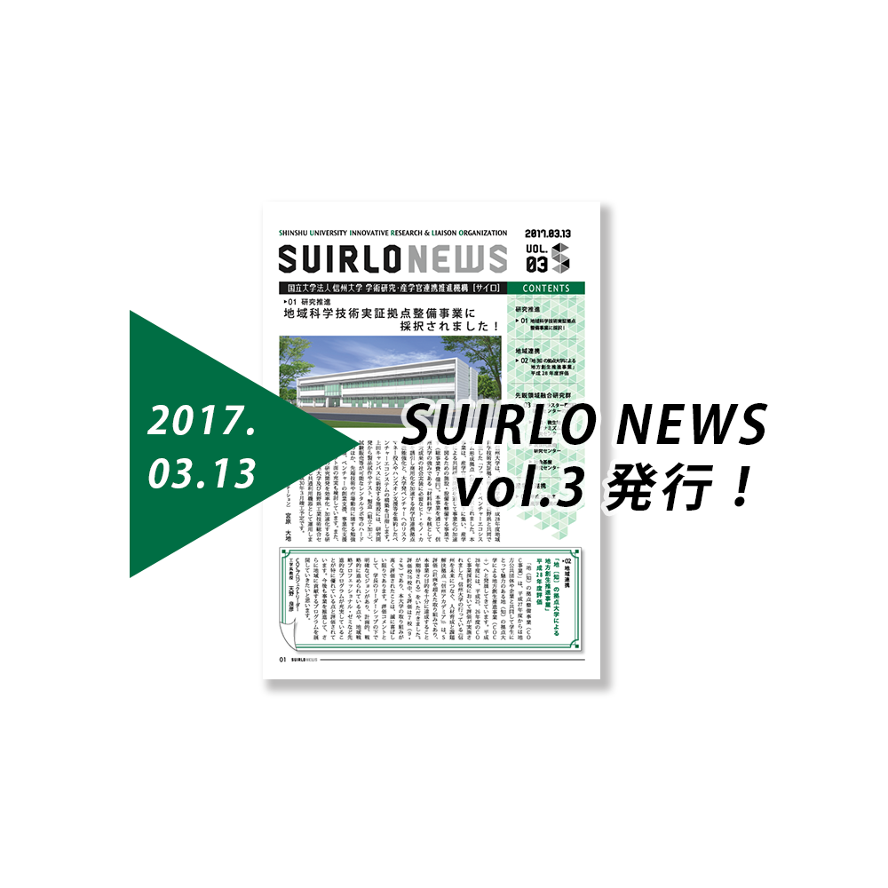アイキャッチ画像:SUIRLO NEWS【vol.3】の発行