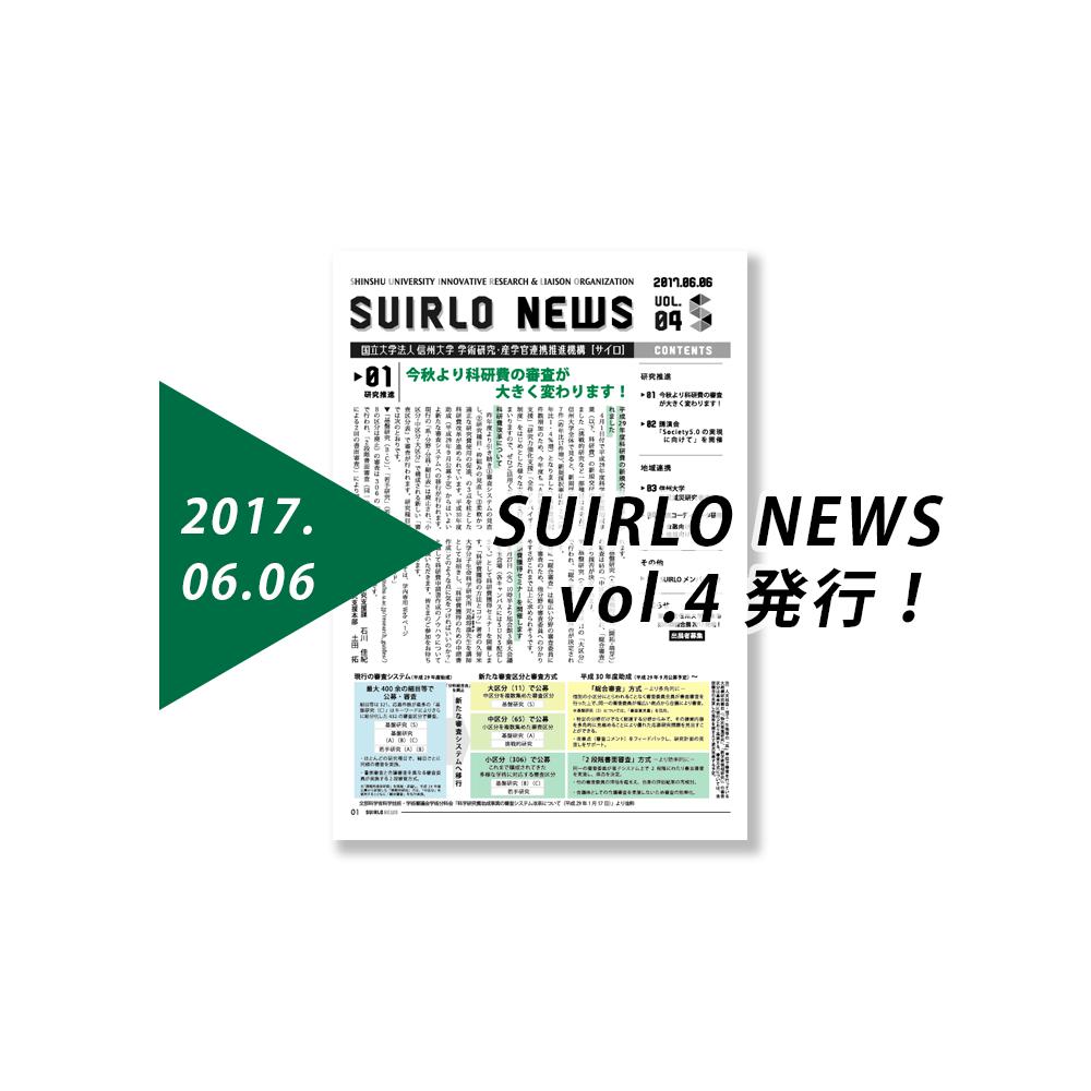 アイキャッチ画像:SIURLO NEWS【vol.4】の発行