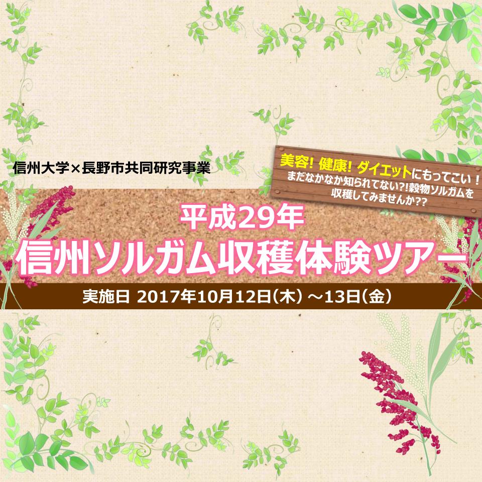 アイキャッチ画像:【開催告知】平成29年度 信州ソルガム収穫体験ツアー