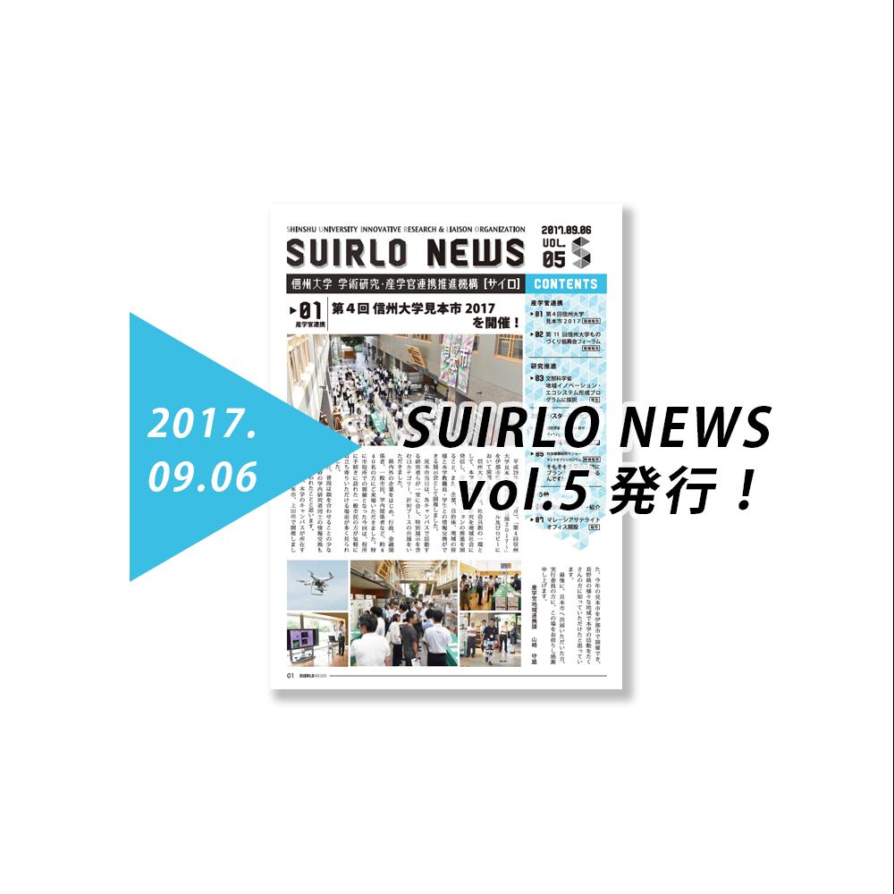 アイキャッチ画像:SIURLO NEWS【vol.5】の発行