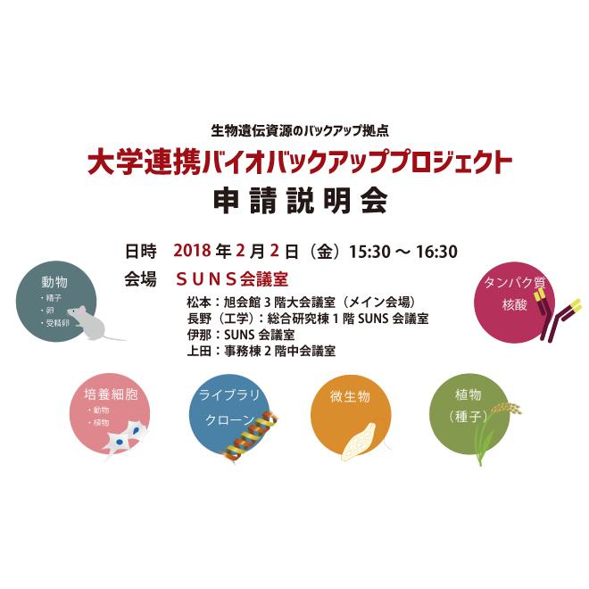 アイキャッチ画像:【開催告知】大学連携バイオバックアッププロジェクト説明会