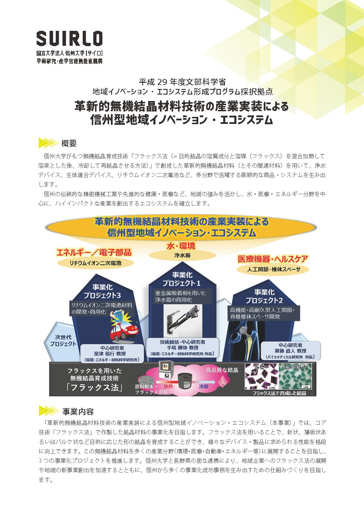 アイキャッチ画像:信州型地域イノベーション・エコシステム