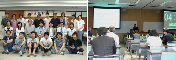 起業家育成集中セミナー(左)  ベンチャーコンテストの発表風景
